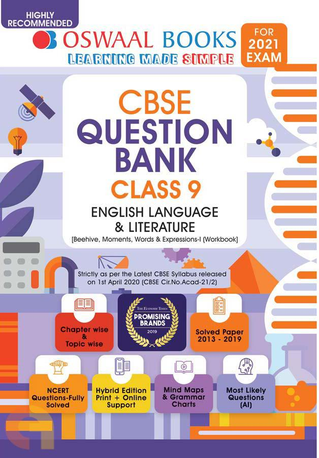 Oswaal CBSE Question Bank Class 9 English Language and Literature Book Chapterwise & Topicwise Includes Objective Types & MCQ's