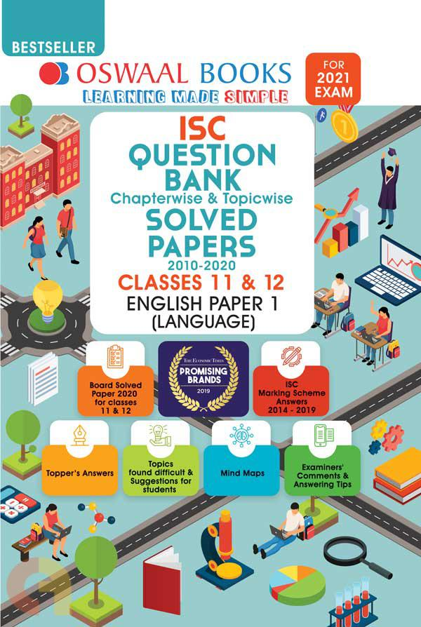 Oswaal ISC Question Bank Class 12 English Paper-1 Language Book Chapterwise & Topicwise