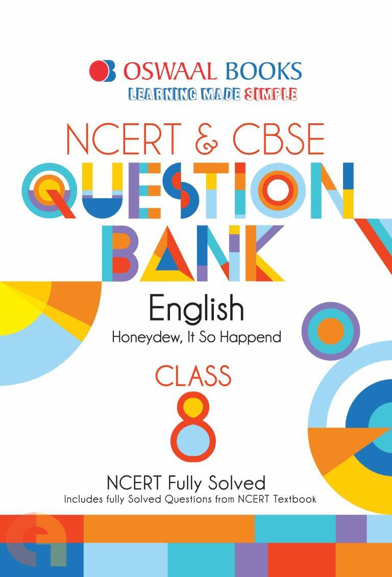Oswaal NCERT & CBSE Question Bank Class 8 English Book