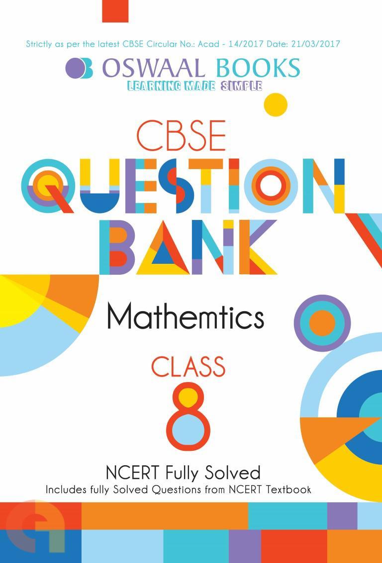 Oswaal NCERT & CBSE Question Bank Class 8 Mathematics Book