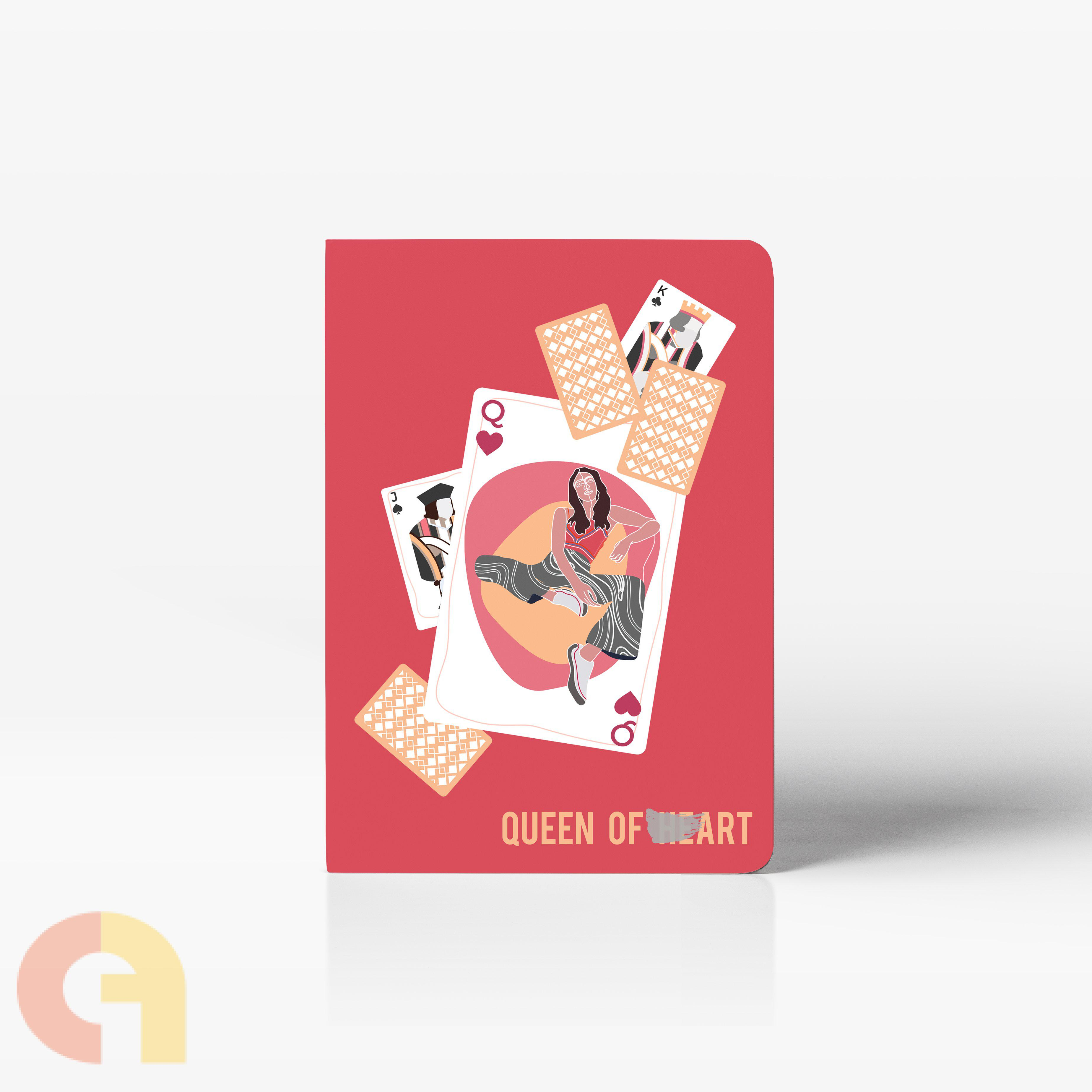Queen of Art (Notebook; Stitched bound; Unruled; 160 pages - A5)