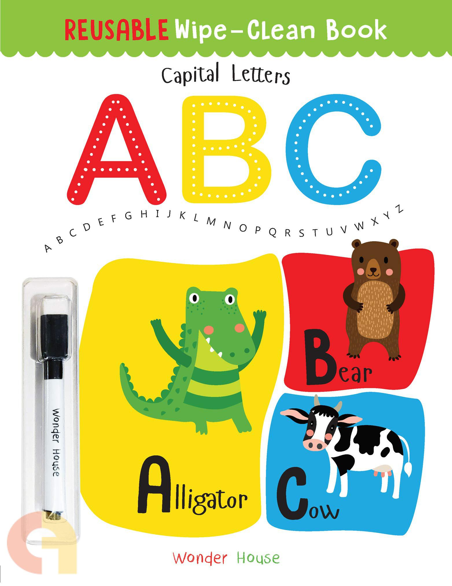 Reusable Wipe And Clean Book: Capital Letters