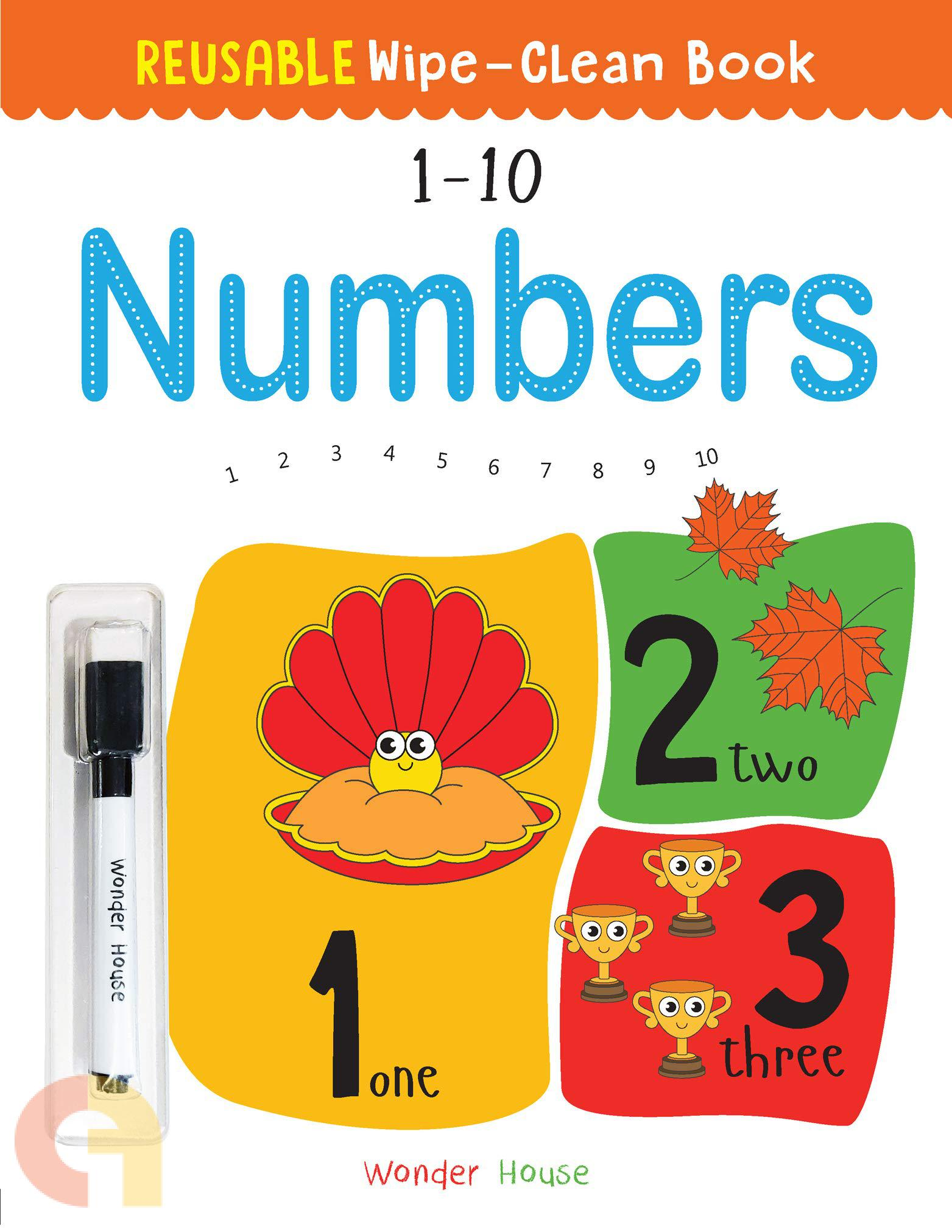 Reusable Wipe And Clean Book: Numbers