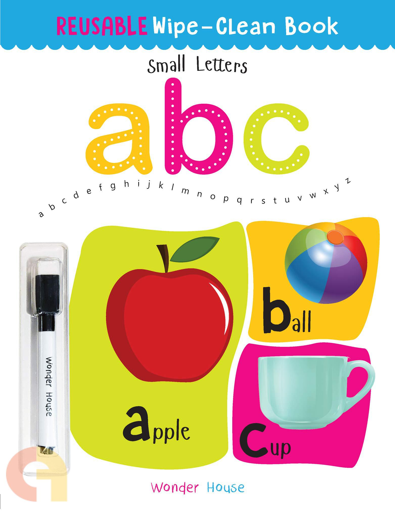 Reusable Wipe And Clean Book: Small Letters
