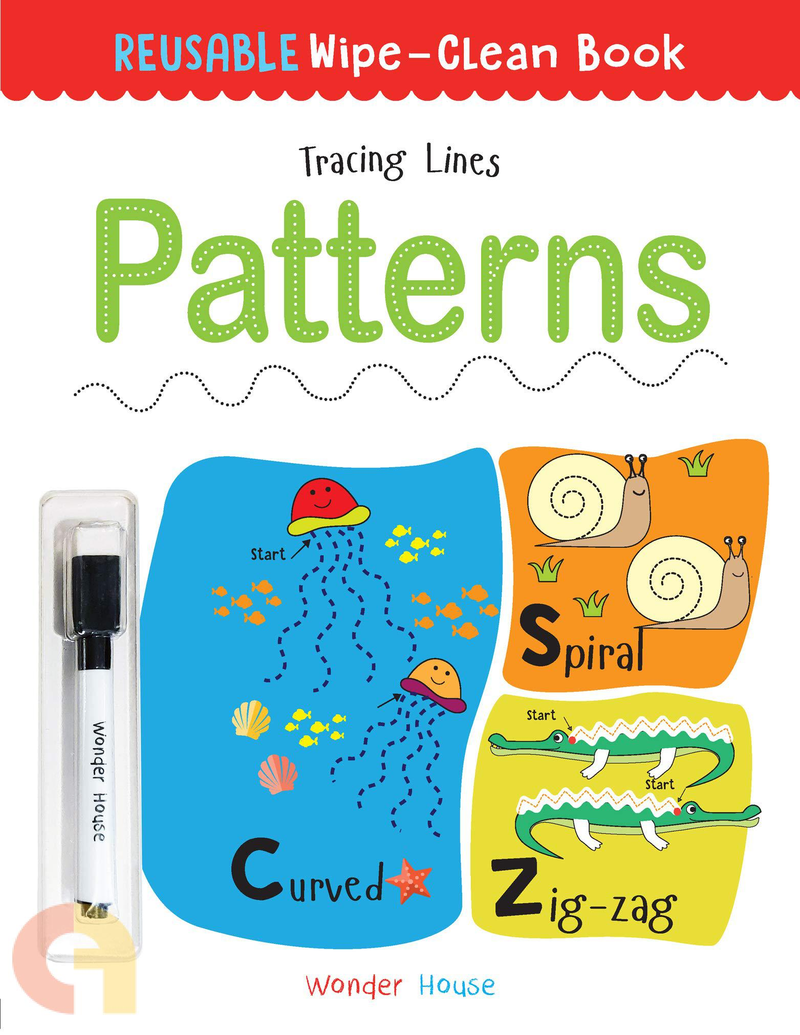 Reusable Wipe And Clean Book: Tracing Lines- Patterns : Trace And Practice Patterns