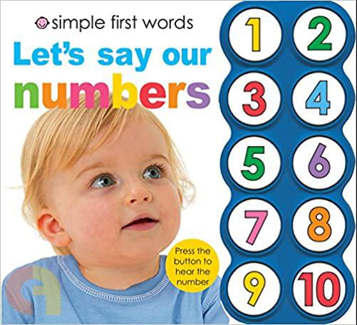 Simple First Words LetS Say Our Numbers