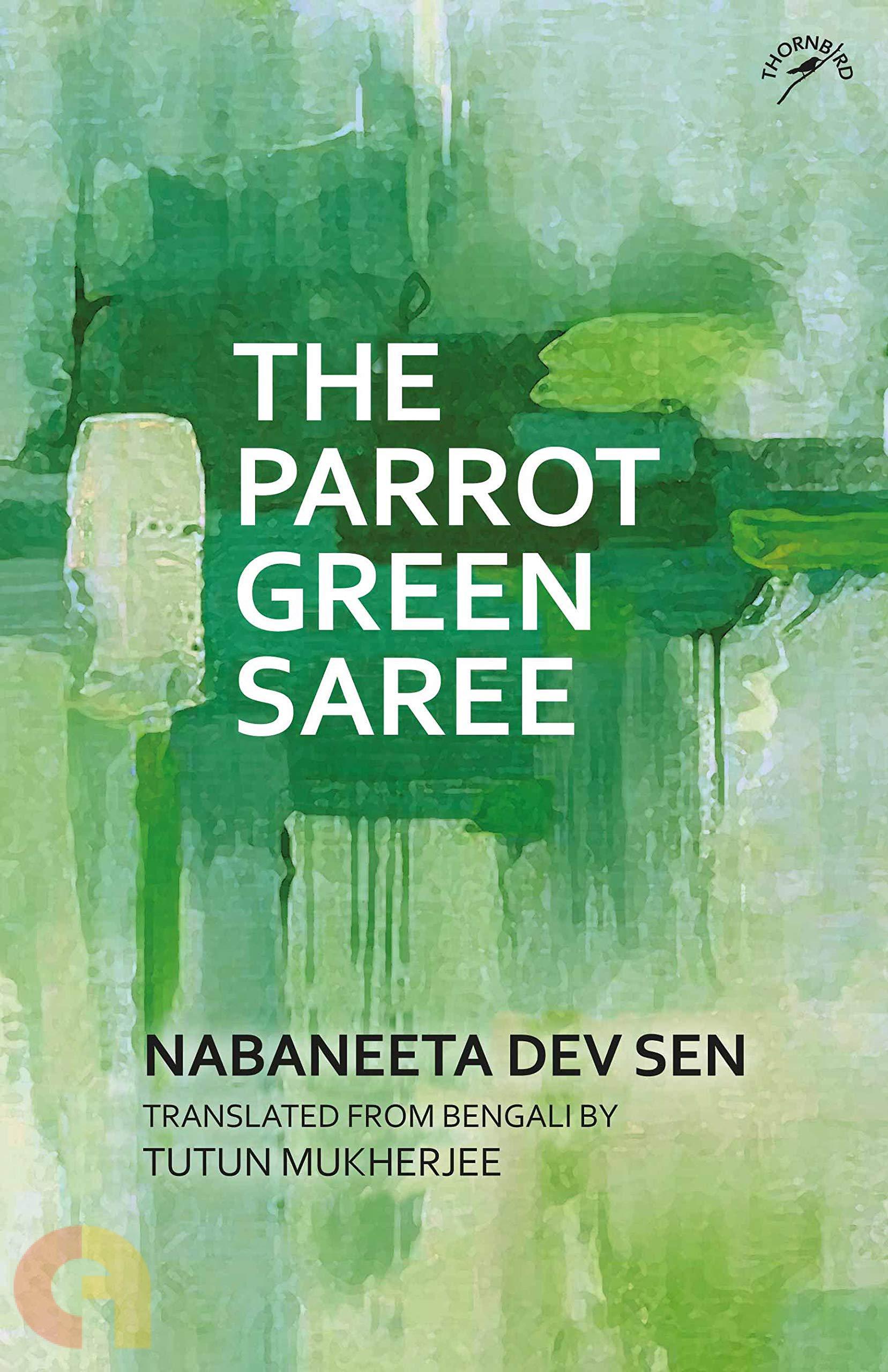 The Parrot Green Saree