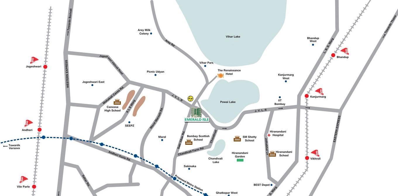 LnT Emerald Isle-Location Map
