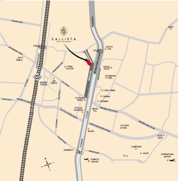 Callista - Location Map
