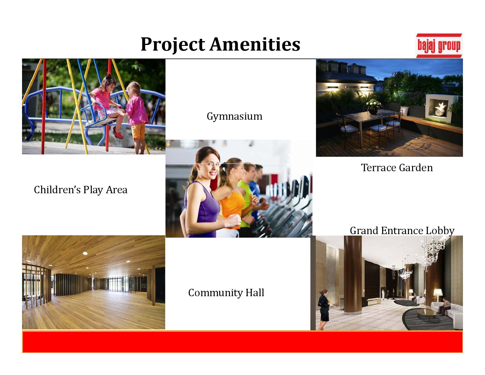Bajaj Emerald -amenities