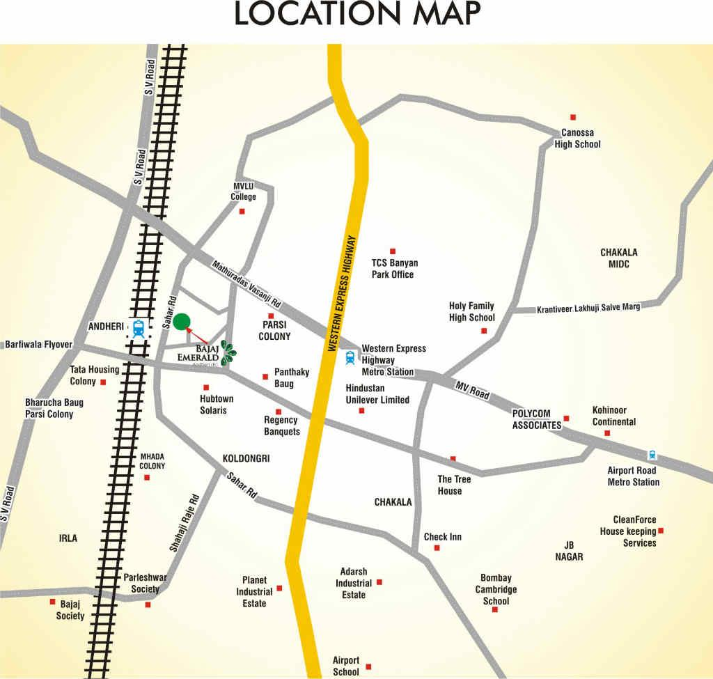 Bajaj Emerald -Location Map