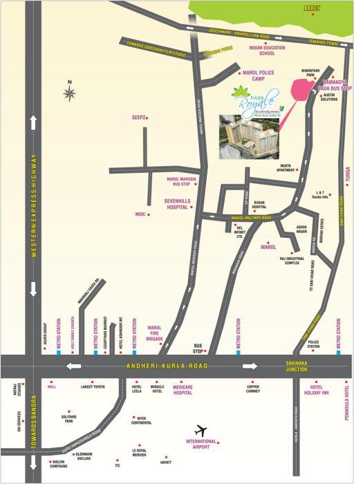 Pride Park Royale-Location Map