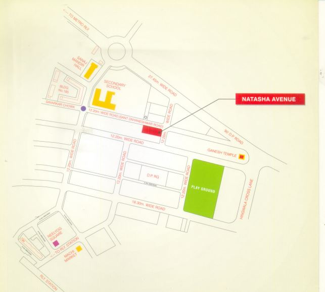 Natasha Avenue - Loaction Map