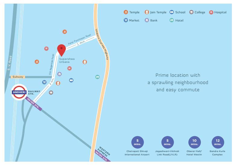suparshwa urbana - Location Map
