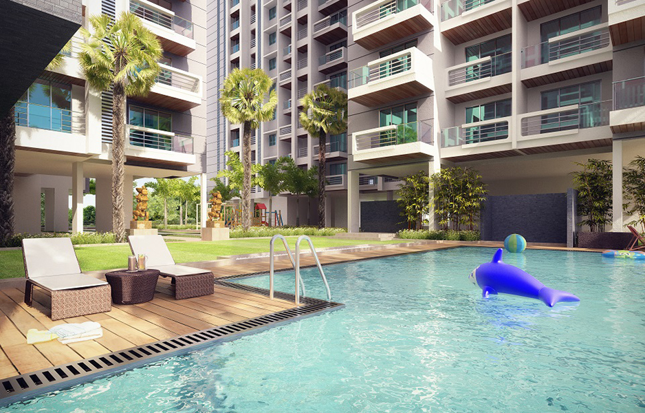 Darvesh Horizon - Swimming Pool View