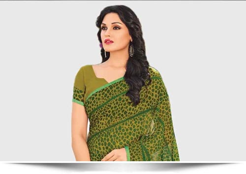 Georgette and Chiffon Sarees