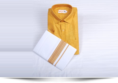 Shirt Dhoti Set