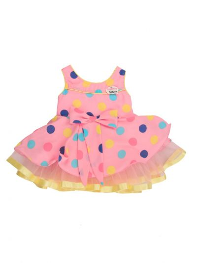 Girls Printed Synthetic Frock Dress - MJA7045770 Size-12(0 to 6 months)