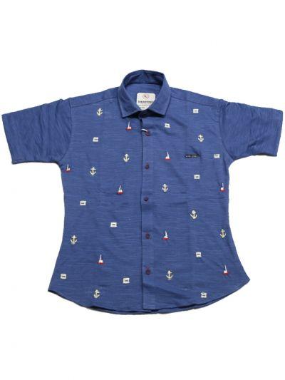 Boys Casual Printed Cotton Shirt - NEC2133818