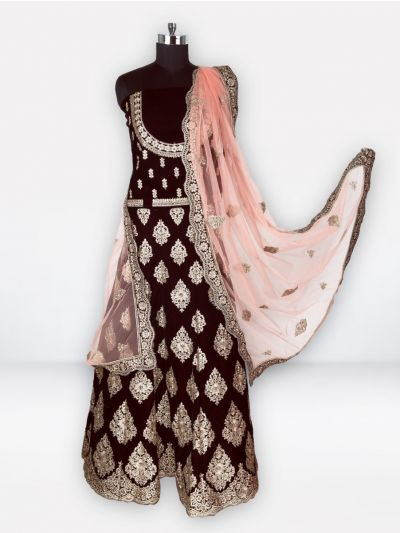 Semi-Stitched Lehenga & Blouse with Dupatta-MGC0439075