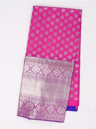 Girls Pure Silk Pavadai Material - MBB5954324