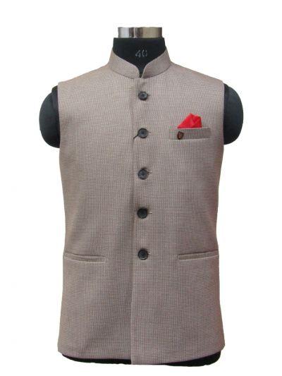 MKC9652318 - Exclusive Printed Men's Waist Coat