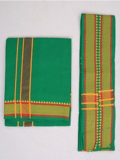 KKV Cotton Devotional Dhoti With Towel - MHA1322653