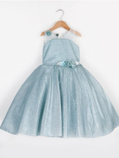 MFB1151517 - Girls Fancy Netted Long Frock (2- Years)