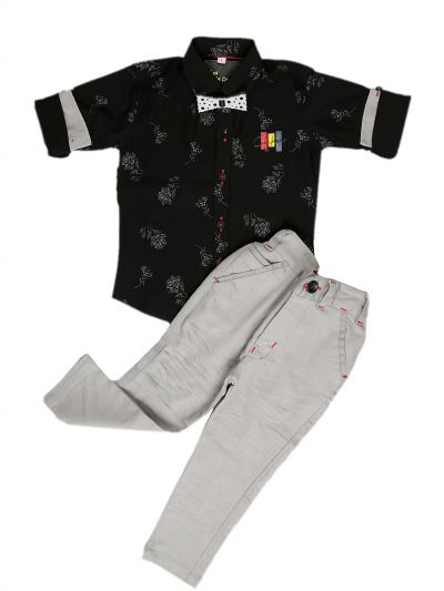 MFB6105452 - Boys Casual Shirt and Pant Set