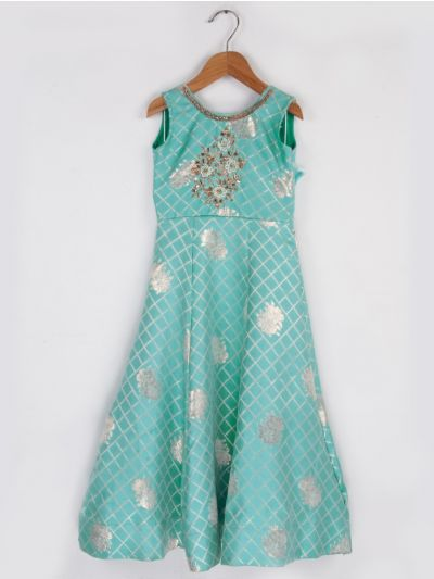 Girls Fancy  Long Frock- 20 (3-Years) - MEC8061434