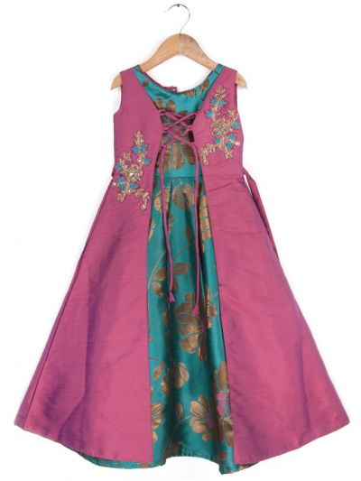 Girls Fancy  Long Frock- 20 (3-Years) - MGA7844570