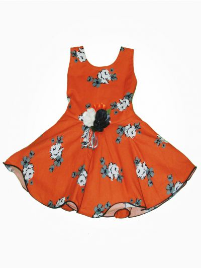 MJC7867787- Girls Fancy Synthetic Frock