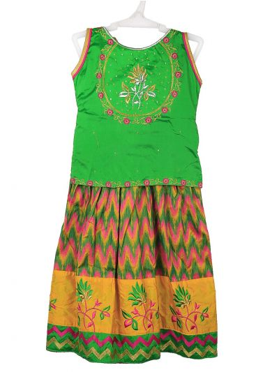 Girls Ready Made Art Silk Pavadai Set - MGC0552151