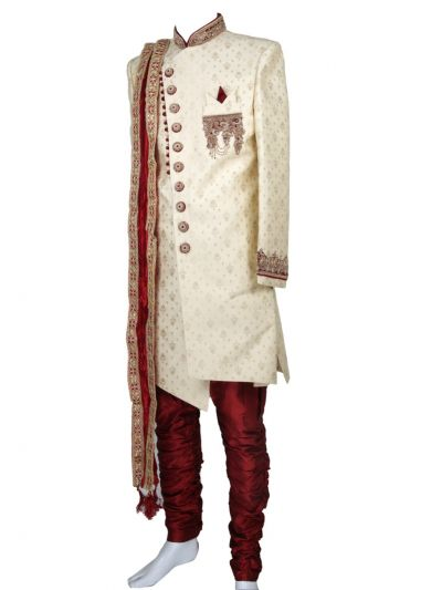 NEA1608521 - Exclusive Heavy Jacquard Hand Work Indo Western Suit