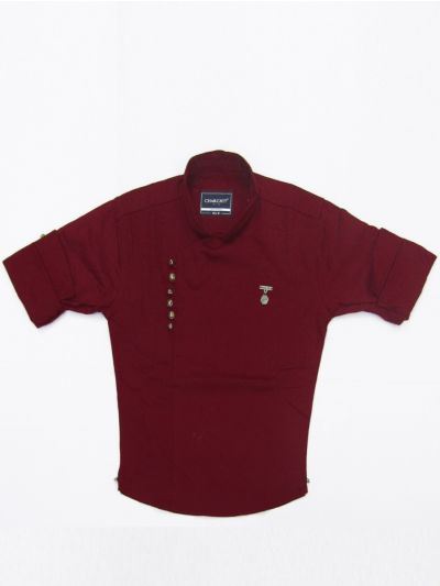 NED2771021 - Boy Cotton Cross Cut Shirt