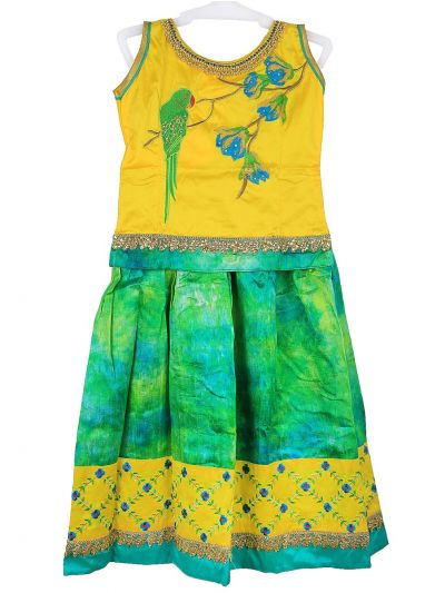 Sivasankari Babu Girls Ready Made Art Silk Pavadai Set - MGC0548280