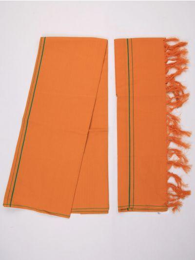 KKV Cotton Devotional Dhoti With Towel - MHA1322429