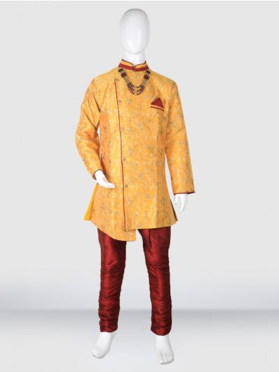MR HOOKS Exclusive Boys Sherwani Set - MIB3391028