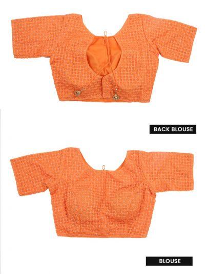 NGB8607877 - Fancy Silk Jacquard Readymade Blouse