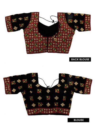 NGB8607909 - Fancy Silk Jacquard Readymade Blouse
