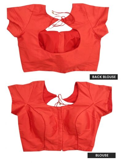 Fancy Silk Jacquard Readymade Blouse-NGA8002390