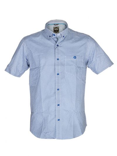 ZF Men's Cotton Casual Shirt With Matching Color Mask