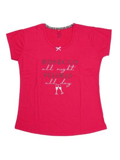 Women's Hosiery 3/4 Printed Nightwear/Night Suit - NKC3566938