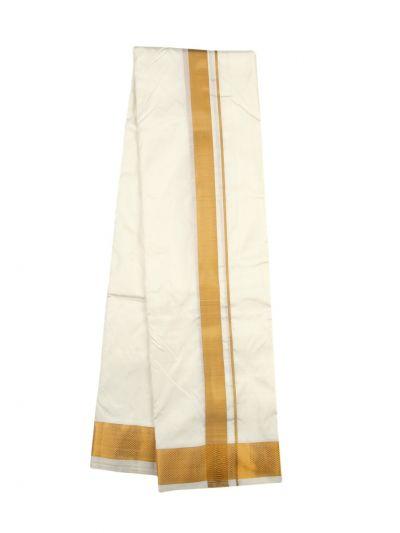 Vivaha Traditional Pure Silk Dhoti Shirt Material and Angavastram Set - OEC6323166