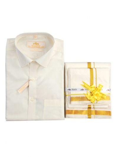 Vivaha Pure Fancy Border Silk Shirt & Dhothi Set - NFD5157134