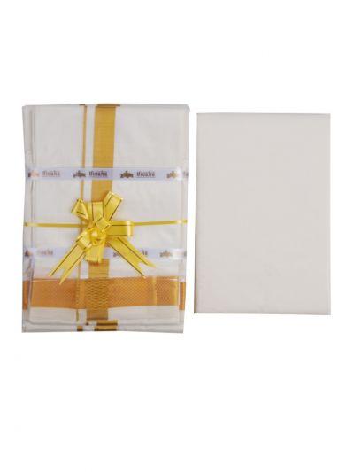 Traditional Pure Silk Dhoti, Shirt Material and Angavastram Set - OFA7697363