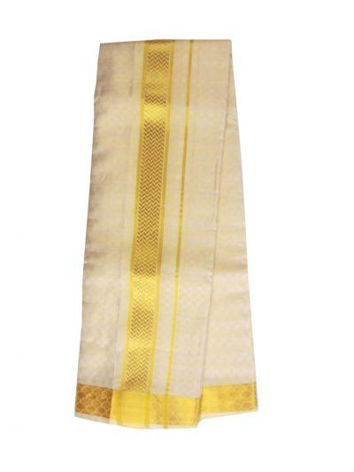 Vivaha Fancy Border Silk Dhoti and Angavastram - ODC3206474
