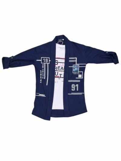 Boys Fancy Casual Shirt  - NGB9422834