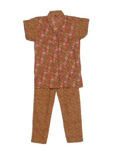 Women Cotton Nightwear/Night Suit - NKD4151012-EKM