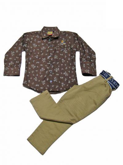 Boys Casual Shirt and Pant Set - MKD0376797